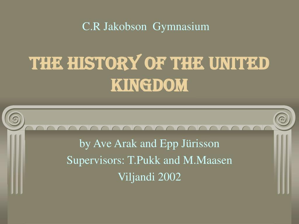 the history of the united kingdom l.