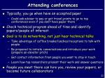 attending conferences