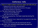 conference talks