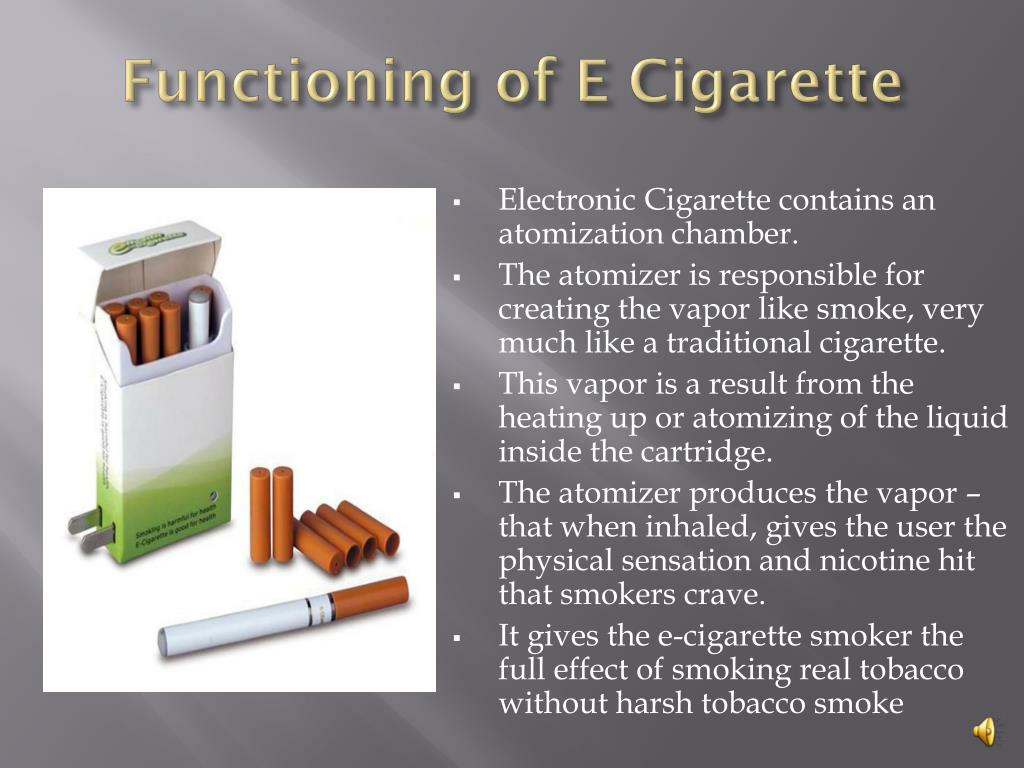 Functioning of E Cigarette