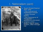 i nationalism cont