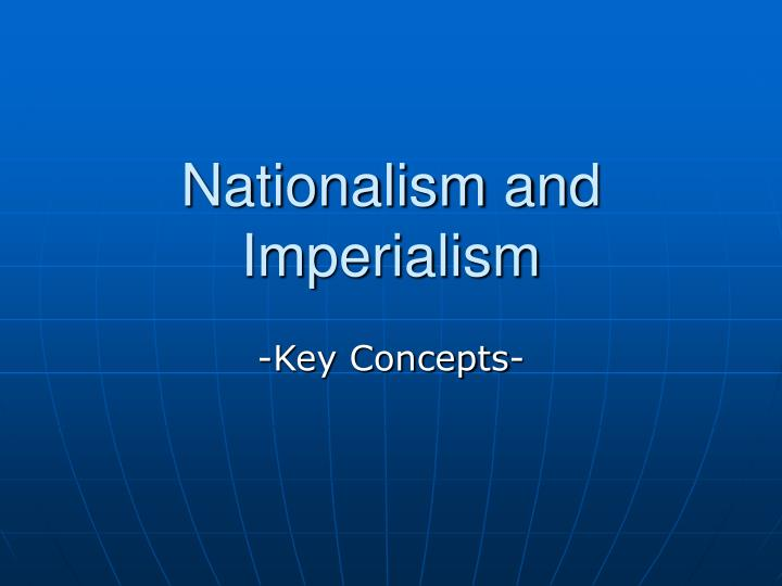 nationalism and imperialism n.