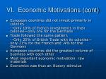 vi economic motivations cont