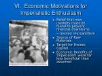 vi economic motivations for imperialistic enthusiasm