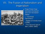 vii the fusion of nationalism and imperialism