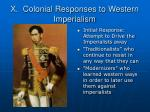 x colonial responses to western imperialism