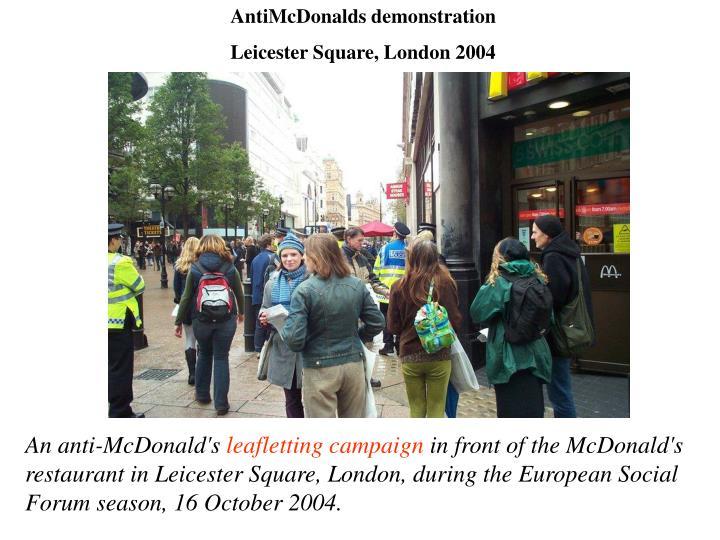 AntiMcDonalds demonstration