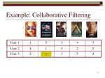 example collaborative filtering