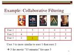 example collaborative filtering10