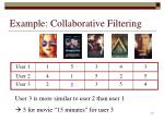 example collaborative filtering17