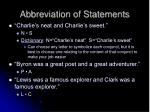 abbreviation of statements