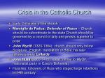 crisis in the catholic church