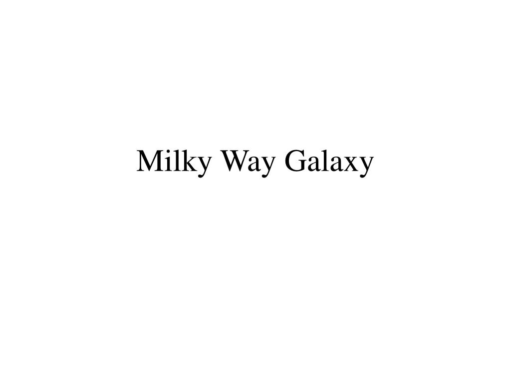 milky way galaxy l.