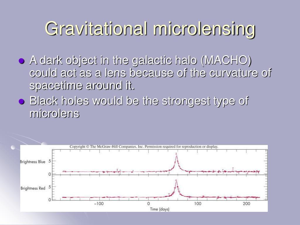 Gravitational microlensing