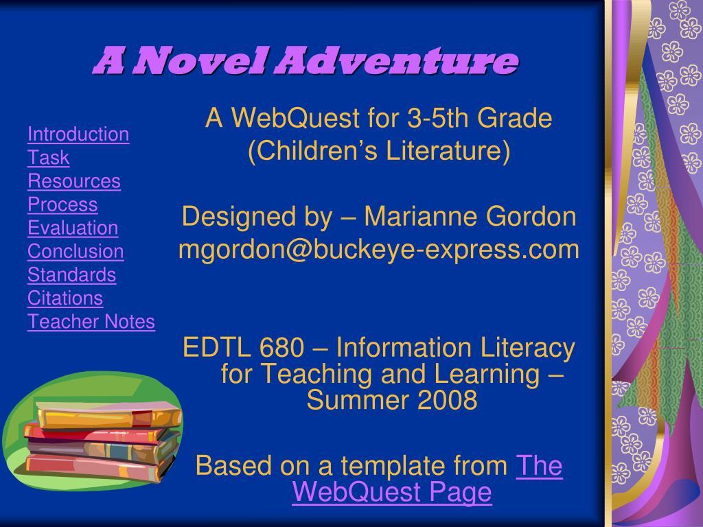 a novel adventure l.