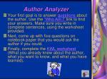 author analyzer