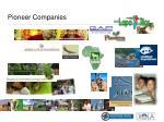 pioneer companies