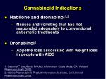 cannabinoid indications