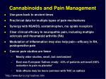 cannabinoids and pain management