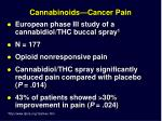 cannabinoids cancer pain