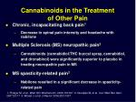 cannabinoids in the treatment of other pain