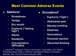 most common adverse events