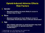 opioid induced adverse effects risk factors