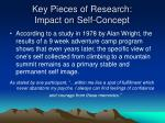 key pieces of research impact on self concept1