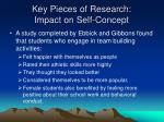 key pieces of research impact on self concept2