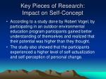 key pieces of research impact on self concept3