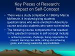 key pieces of research impact on self concept4