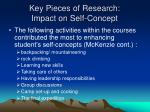 key pieces of research impact on self concept5