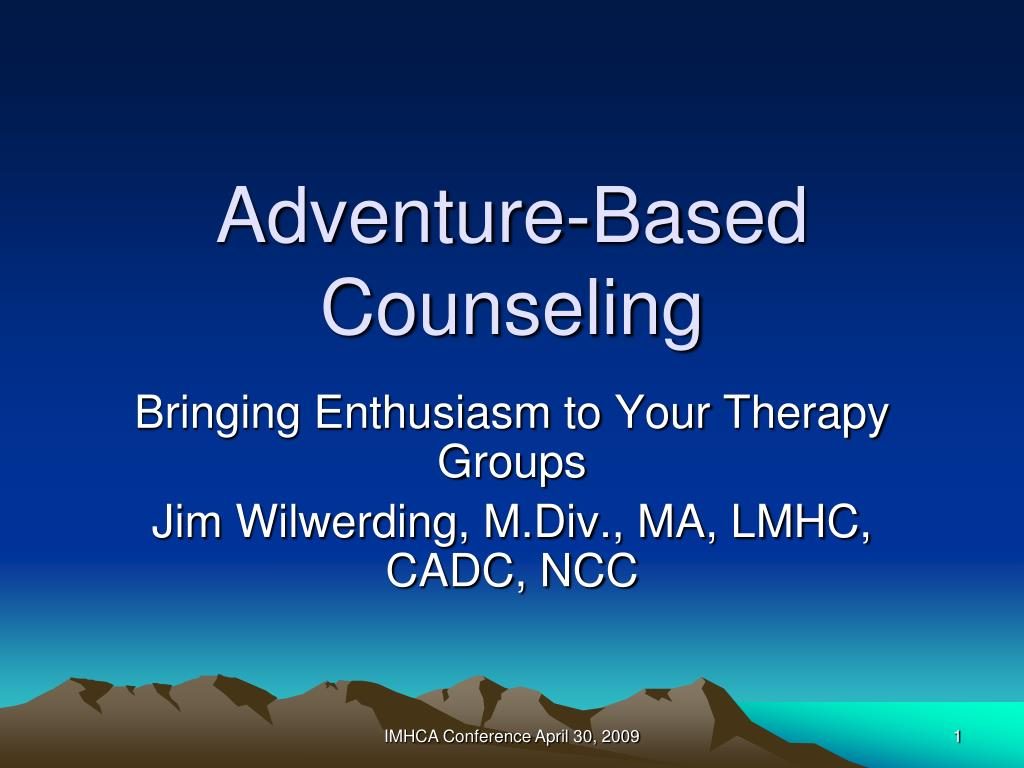 adventure based counseling l.