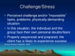 challenge stress