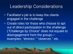 leadership considerations29