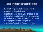 leadership considerations29