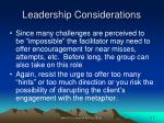 leadership considerations30