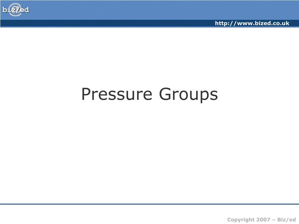 pressure groups l.