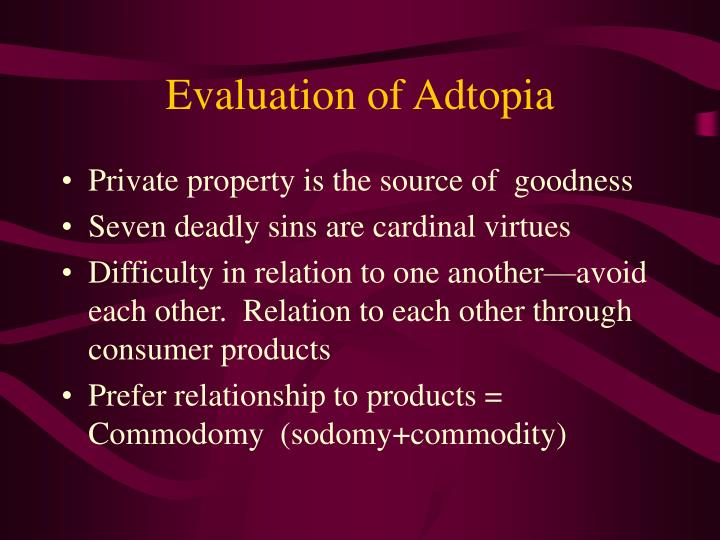 Evaluation of Adtopia