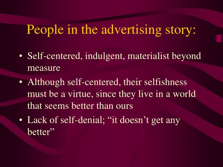 People in the advertising story: