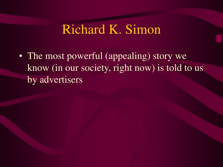 Richard k simon