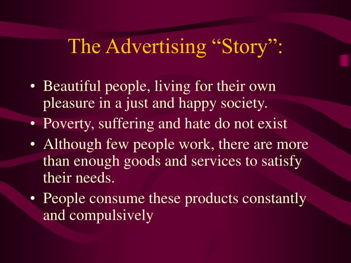 The advertising story