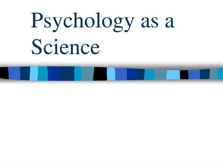 psychology as a science n.