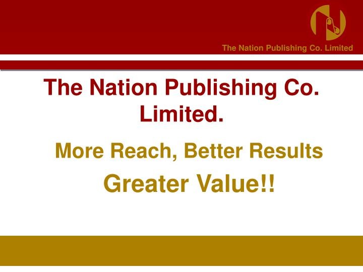 the nation publishing co limited n.