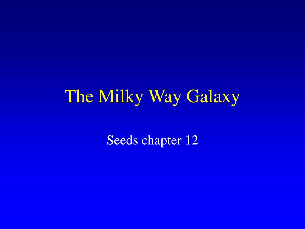 the milky way galaxy l.