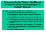 competing for the future the role of scenario analysis in preparing for a industry change