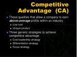 competitive advantage ca