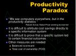 productivity paradox