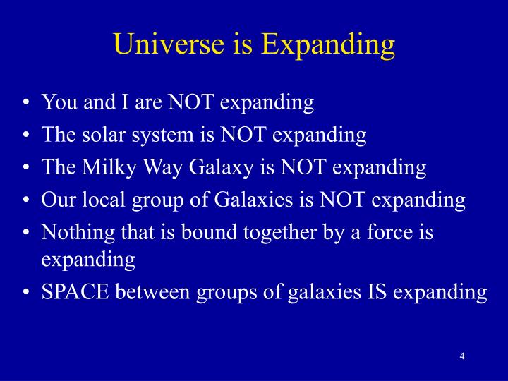 Universe is expanding