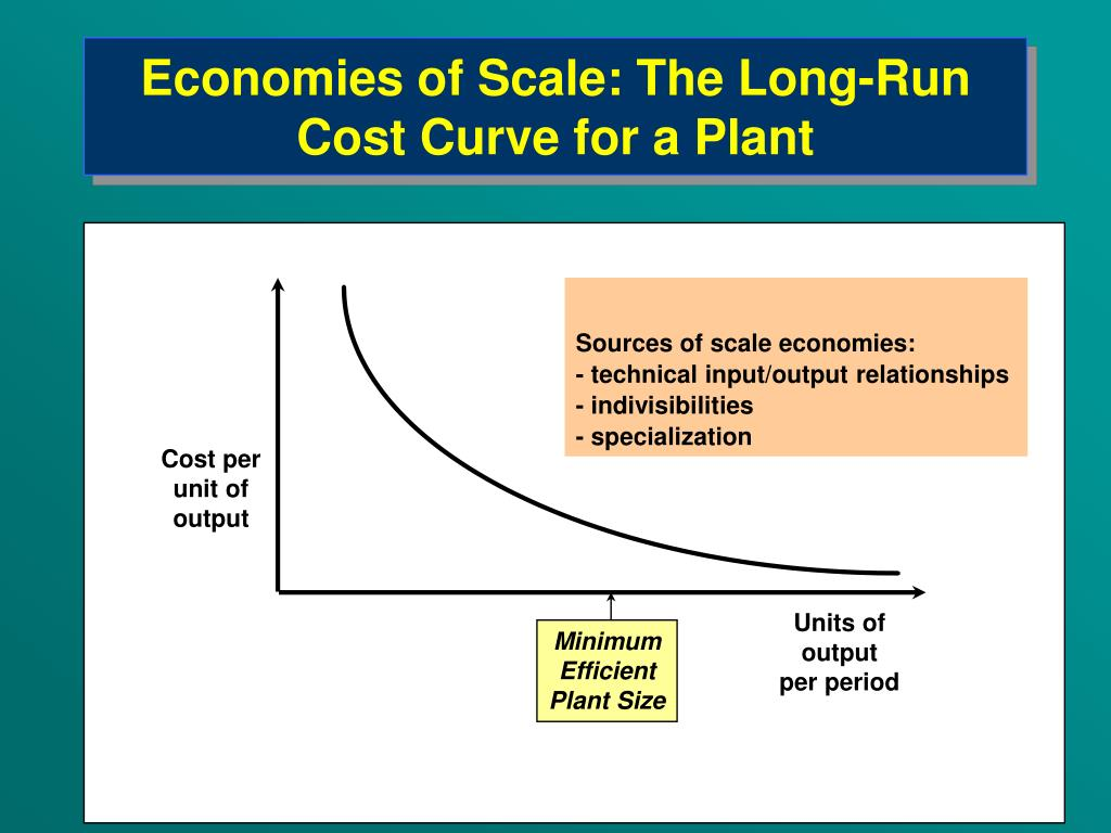 Economies of Scale: The Long-Run Cost Curve for a Plant